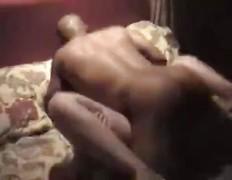 Bald ebony fucker bangs white woman until she cums