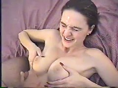 Mindless house wife sex with kinky woman tit fucking big cock